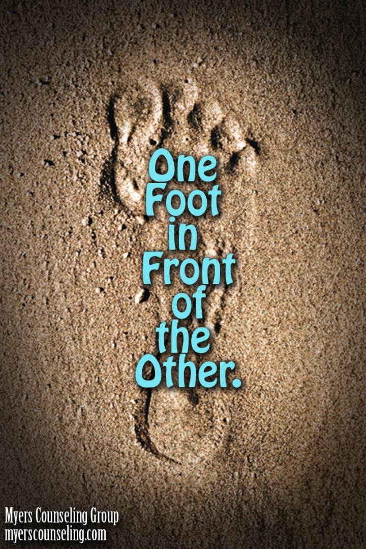 Inspirational Quote of the Day: One Foot in Front of the Other