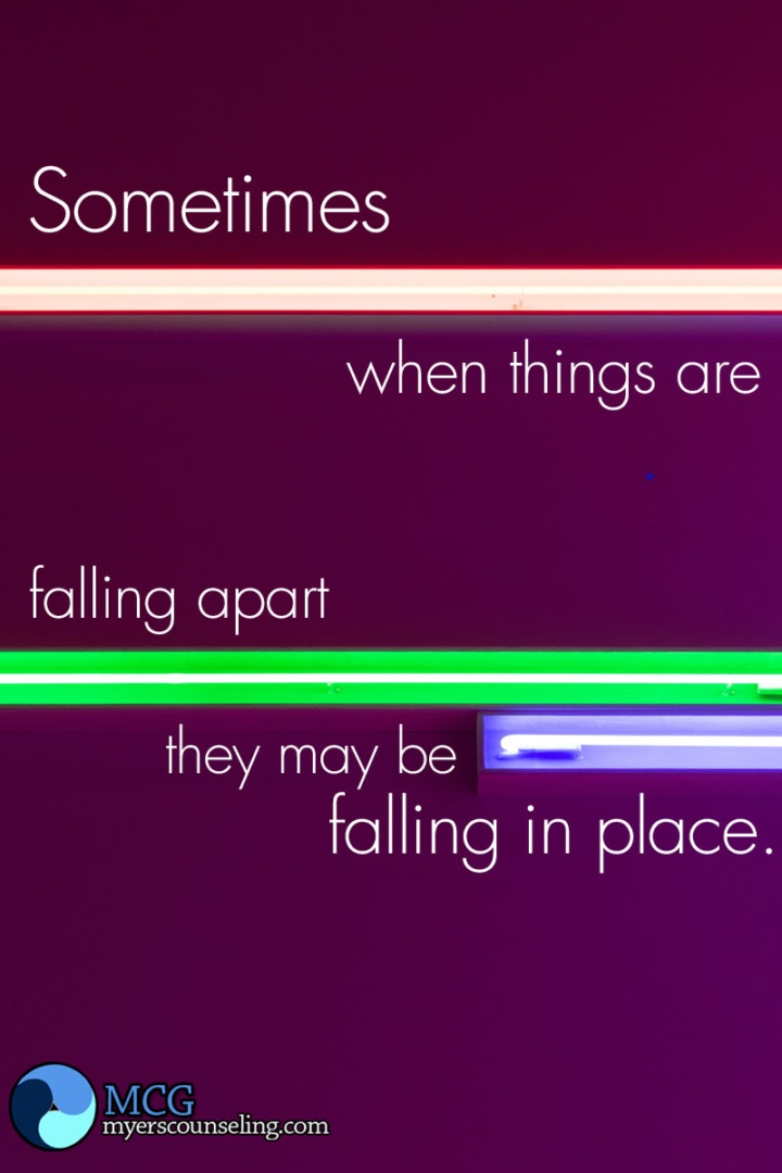 Inspirational Quote of the Day: Falling into Place