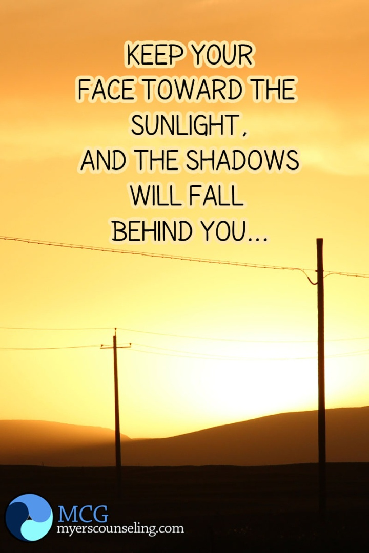 Inspirational Quote of the Day: Sun and Shadows